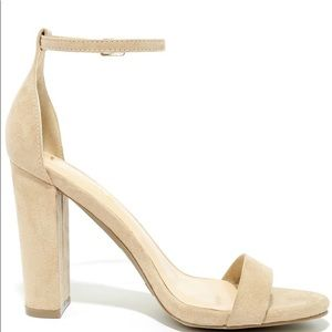 New Taylor Natural Suede Ankle Strap Heels Size5.5